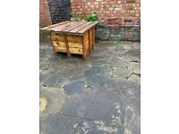 One off unique Garden table with storage
