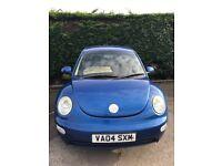VW beetle petrol bright blue 04 plate great run around!