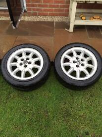 Pair of Golf GTi alloy wheels