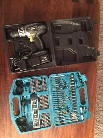 18v battery drill and makita drill set