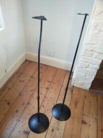 BTECH Ventry Range Black Speaker Stands Adjustable Height