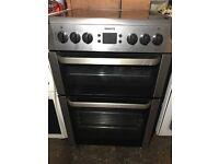 £126.87 Beko sls/black ceramic electric cooker+60cm+3 months warranty for £125.89
