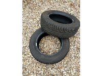 TWO Uniroyal Rain Expert 195 60 R14 part worn tyres - 7mm tread