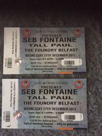 Network Classics x 2 tickets £25 ONO Seb Fontaine &Tall Paul BELFAST TONIGHT!