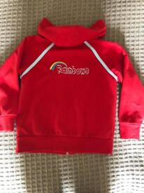 Rainbows jogging bottoms and hooded top - smallpre owned