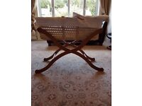 Baby Weavers White Waffle Moses basket - Excellent condition
