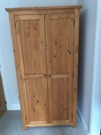 Cotswold co pine oakley wardrobe, good condition