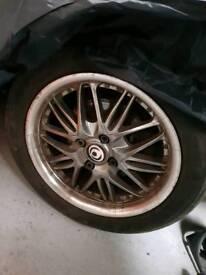 "Mazda mx5 15"" Alloys with Tyres 195x50x15"