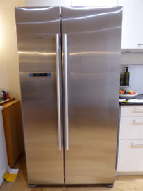 Siemens iQ300 American Style Door-by-Door Fridge Freezer 176X91, 2 MultiBox veg con, Stainless steel