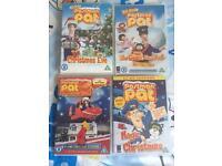 Postman Pat DVDs x 4