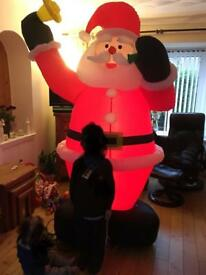 Giant inflatable light up Santa
