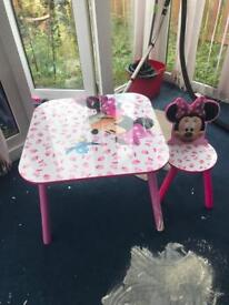 Kids table and one chair