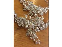 OFFERS CONSIDERED: Wedding Tiara & Necklace - pearl and crystal, Alan Hannah