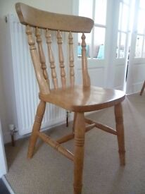 Set of 4 Pine dining chairs