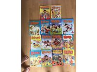 14 beano annuals for sale. All in good condition.