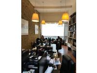 Deskspace £150 and Hotdesk £50-75