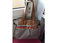 BabyMel stripe changing bag