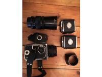 Kiev 88 medium format film camera and accessories