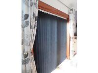 Black Vertical Blinds suit Patio Doors