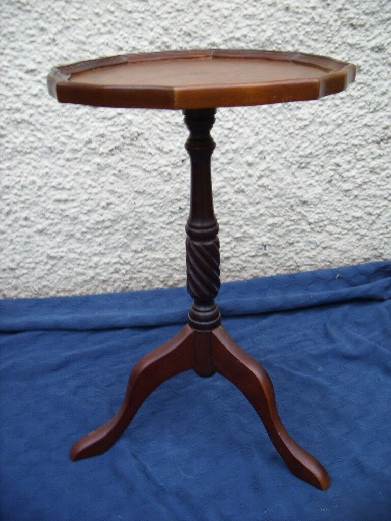 Vintage Wine Table Tripod Table Lamp Table Round Side