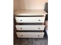 IKEA Hemnes, White Chest of 3 Drawers 108x96cm
