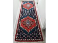 Vintage handwoven artisan rug