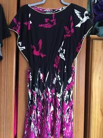 Printed bird dress