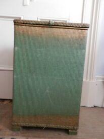 Vintage Lloyd Loom Laundry Basket Storage Box