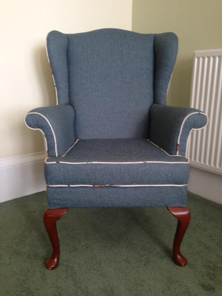 Parker Knoll Armchairin Newport on Tay, FifeGumtree - Parker Knoll with turquoise upholstery and cream panels on the sides with pheasants. Newly upholstered. Ready for its forever home. Thanks