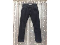 Men's TOPMAN black skinny denim jeans, size 32R