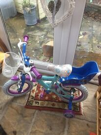 "Unused Disney frozen bike 12"""