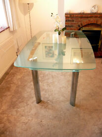 Glass Dining Room Table 6 Seater no chairs