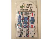 BNIP. BABY WINGS. PACK OF 3 DUMMY/PACIFIER CLIPS.