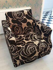 fashionable big single spinning chair