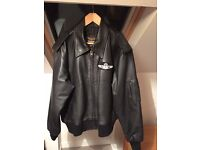 Ideal Christmas Gift - TRANSAIR Leather Flightline Pilot Jacket - never worn!