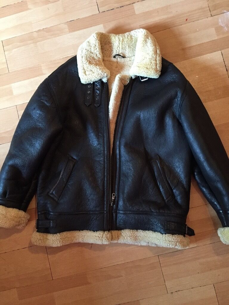 LEATHER SHEEPSKIN fleece jacket More less new | in Sydenham ...