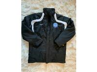 St Johnstone football club touch line winter puffer jacket (excellent condition)
