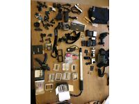 Go-Pro Hero3+ Black camera with lots of accessories and batteries
