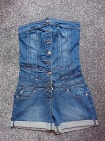 Brand New denim bandeau jumpsuit/playsuit from New Look size 8