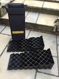 MILENCO Levelling Blocks. Pair in Carry Bag.