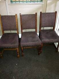 5 dining chairs available
