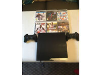 sony ps3 console 150gb with games 2 controllers