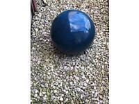 2 x Blue Pottery Garden Orbs