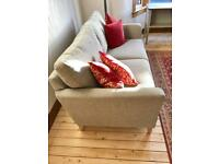 Pale grey as new 3 seater sofa