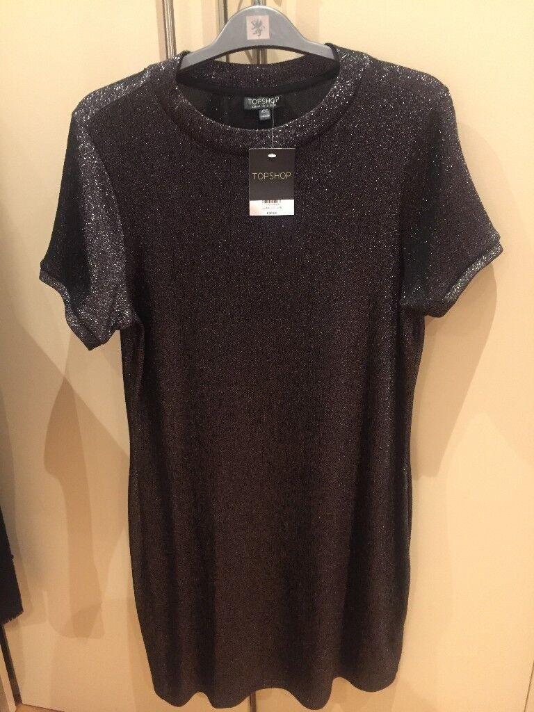Women's metallic Topshop dress - UK size 16 - unworn - tags still on