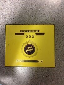 Vintage 1950's collectors state 555 tin