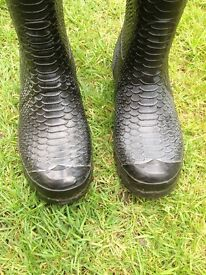 Hunter Carnaby Boa Tall Black Ladies Wellies