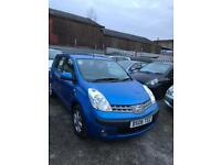 Nissan note 1.4 petrol 5 doors hatchback 5 seater family car 2006