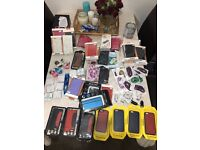 Mix lot of mobile phones accessories and cases