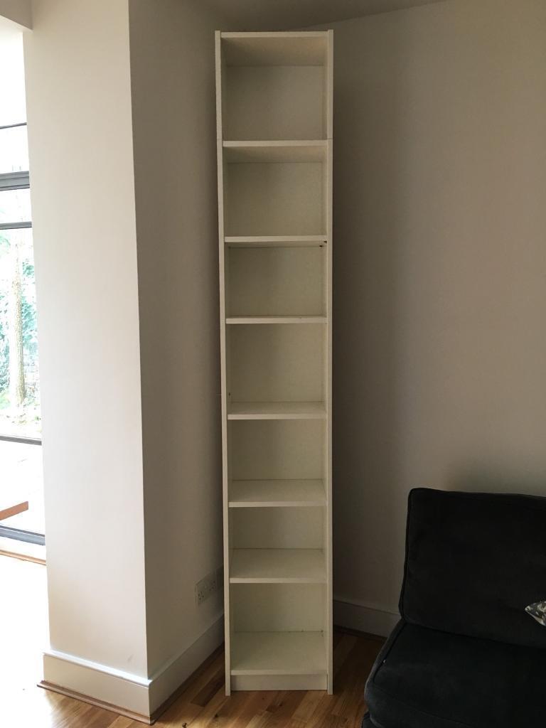 IKEA tall bookcase shelves white 237cm h 40cm w